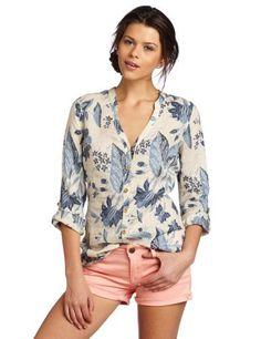 49574f947cfee Lucky Brand Women s Morgan Linen Tunic Shirt