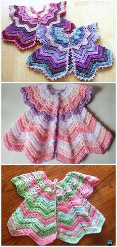 Crochet Star-Shaped Baby Cardigan Sweater Vest Pattern - Crochet Kid's Sweater Coat Free Patterns