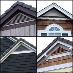 Like the details of the corbels or cornice trim used with the Triangle Cedar Gable Vents - - CedarGableVents.com