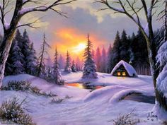 Log Cabin Among The Fir Trees ~Anthony Casay