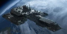 Stargate - Earth (Tau'ri) - Daedalus: A powerful ship, given the limited technology Earth had at the time of its commission. It eventually incorporated upgrades of Asgard ingenuity. Stargate Atlantis, Stargate Ships, Alien Spaceship, Spaceship Design, Interstellar, Science Fiction, Cosmos, Sci Fi Spaceships, Sci Fi Ships