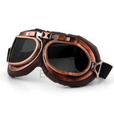 c3e9c66a82d Vintage Motorcycle Helmet Goggles Glasses Pilot Aviator Eye Wear