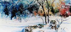 Media Tweets by Hanne Lore Koehler (@koehlerart) | Twitter #winter #country #paintings Country Paintings, Winter Scenes, Twitter