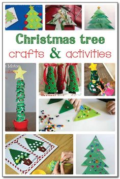 20 Christmas tree crafts and activities. We really need to try #4! || Gift of Curiosity