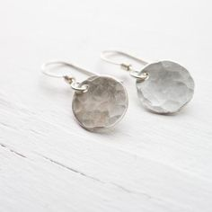 Everyday Hammered Disc Earrings