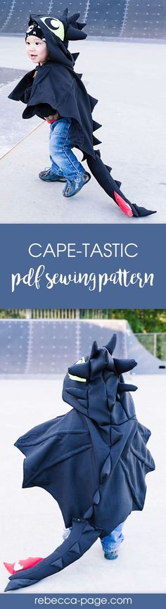 Cape sewing pattern with so many tips and techniques. You can create nearly any animal for your girl or boy to dress up in. Perfect for halloween costumes.