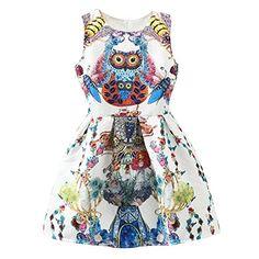 Chisen Women Floral Owl Butterfly Print Vintage Dress (S, Multicolor) CHISEN http://www.amazon.com/dp/B00WS3NEPU/ref=cm_sw_r_pi_dp_JmvQvb0NAR6EQ
