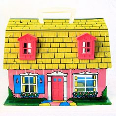 vintage tin dollhouse