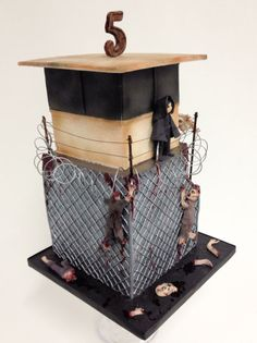 Walking dead cake.  Very creative!