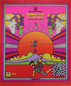 1970 Manhattan Yellow Pages by Peter Max