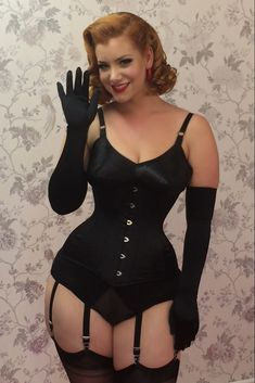 Beautiful longer line corset designed for those of you with longer torsos. Ideal for either occasional wear or daily waist training. Vintage Underwear, Vintage Lingerie, Black Lingerie, Corsets, Burlesque, Nylons, What Katie Did, Women's Shapewear, Stockings And Suspenders