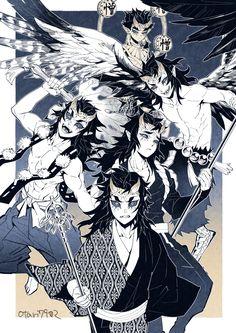 upper moon four Anime Demon, Manga Anime, Anime Art, Demon Slayer, Slayer Anime, Vanitas Kingdom Hearts, Character Art, Character Design, Couples Comics