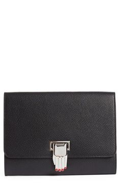 Opening Ceremony 'Nokki' Pebbled Leather Clutch available at #Nordstrom