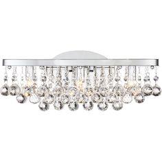 "Possini Euro Design Crystal Strand 25 34"" Wide Bath Light Enchanting Crystal Vanity Lights For Bathroom Design Decoration"