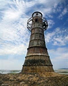 Abandoned Lighthouse In The Gulf Of Mexico