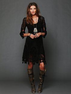 Free People Mi Amore Lace Dress, Mex3417.59 / romántico bohemio