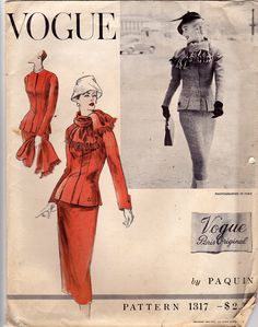 Paquin 1950s (Vogue 1317). I love the details on the jacket bottom and cuff.