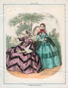 Ladies' Companion June 1855