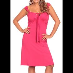 Party stretch dress Colors:  turquoise, grape, fuchsia and white.  Sizes: 10-14! Dresses