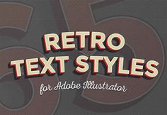Last week I shared a tutorial showing how to create a retro text style using Adobe Illustrator. I had lots of fun producing that effect, so I've been busy crafting a number of additional colour combinations to create a collection of 10 free retro text styles for you to download. Apply them to your text …