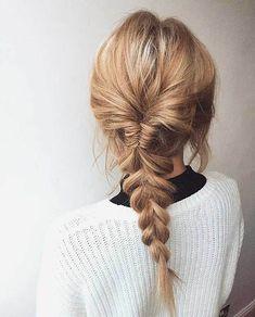 Loose Fishtail Braid Hairstyles 2018