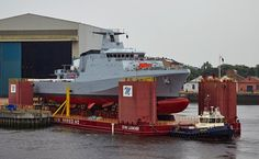 HMS Forth about to depart Govan for tow to KGV Dock where she will be floated off the barge Us Military, North Sea, Boat, Ship, River, Building, Photography, Dinghy, Photograph