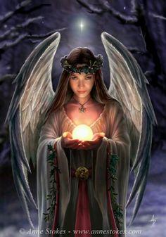 Yule Angel  by Anne Stokes
