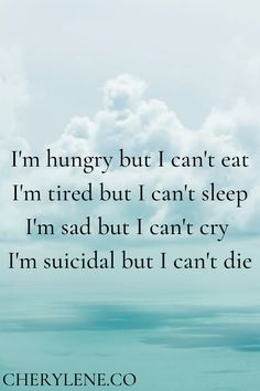 Sometimes words can't express how it feels. Even if it's not easy right now, take little steps. Read my tips on how to eat better while going through depression. Every steps count. Pain Quotes, Quotes Deep Feelings, Hurt Quotes, Real Quotes, Mood Quotes, Life Quotes, Sad Girl Quotes, Sad Texts, Feeling Well