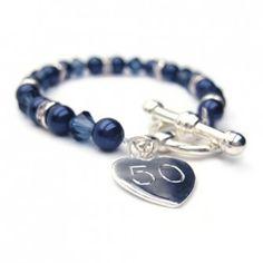 Personalised Aspire Single Bracelet - Navy