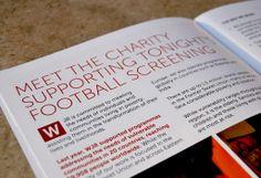 World Jewish Relief brochure for the Ukraine & England football match fundraiser.