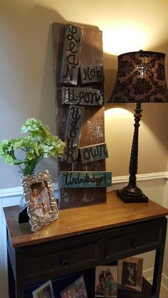 Proverbs Lean Not Upon Your Own Understanding wooden distressed home decor