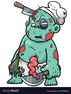Find Vector Illustration Cartoon Zombie Chef stock images in HD and millions of other royalty-free stock photos, illustrations and vectors in the Shutterstock collection. Thousands of new, high-quality pictures added every day. Graffiti Doodles, Graffiti Cartoons, Graffiti Art, Arte Zombie, Zombie Art, Illustration Cartoon, Illustrations, Art Sketches, Art Drawings