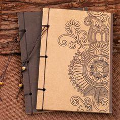 Notebook Vintage escola de papelaria organizador planejador Kraft caderno de desenho diário criativo Notepad diário em branco