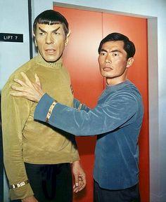 Spock & Sulu Second Pilot. Sulu wasn't a helmsman.