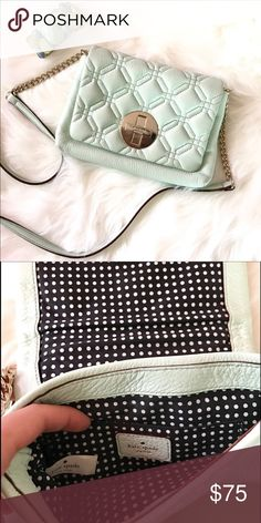 Authentic Kate spade ♠️ crossbody purse Mint green crossbody Purse Used twice perfect condition ❌no low ball                                                               ❌no returns.                                                                   👍🏼accept reasonable offers.                                           📪fast shipping kate spade Bags Crossbody Bags