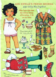 Uncut Paper Doll by Mary Engelbreit Georgia