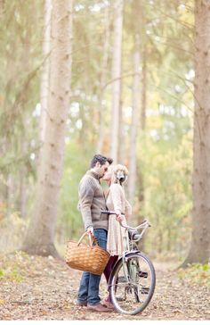 love, a picnic basket, a bike ride, and early autumn.
