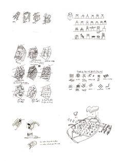 Bernard Tschumi Sketches, Parc de la Villette 1982 © BTA.