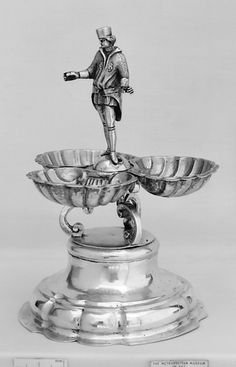 Silverware | Saltcellar Date: 18th century Culture: German Medium: Silver, gilt lining