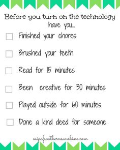 Before Technology Printable- FREE