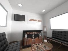 Interiorismo, publicidad sala absolut elyx