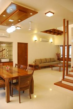 House Interior Indian - New ideas House Ceiling Design, Ceiling Design Living Room, Home Ceiling, Kitchen Room Design, Home Room Design, Home Interior Design, Kitchen Ceiling Design, Kitchen Ideas, Living Room Partition Design