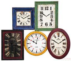 Reloj De Pared Vintage Multi Colore