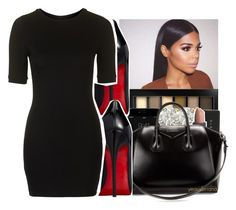"""""""11/21/2016"""" by yeauxbriana ❤ liked on Polyvore featuring Maybelline, Auriya, Lipstick Queen, Givenchy, Christian Louboutin and Topshop"""