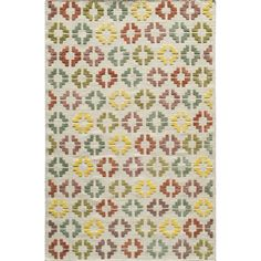A mix of colors on this beautiful rug accents your decor in any room. Strong enough for heavy traffic areas, this wool and viscose rug is ideal in any home.