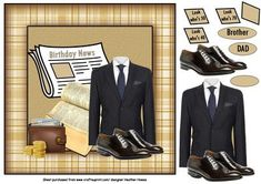 suits you sir on Craftsuprint designed by Heather Howes - a gread male card - Now available for download!