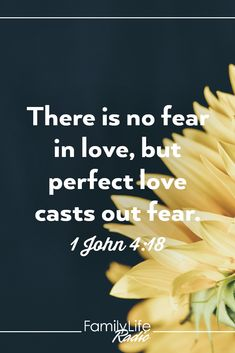 Make a list of your current fears and how God's love can answer each one. #HopeforYourDay