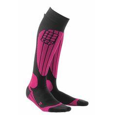 CEP Sportswear Pink Compression Skiing Sport Socks for Women Snowboard, Ski Gear, Sport Socks, Unisex, Skiing, Sportswear, Ebay, Boots, Pink