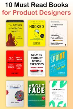 10 Must Read Books for Product Designers Best Design Books, Book Design, Books To Buy, Books To Read, Learning Psychology, Web Design, Branding, Brand Identity, Graphic Design Inspiration