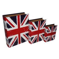 Cheungs Vibrant Union Jack Book Box | Wayfair